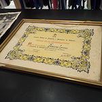 Primer premio del Concurso de Escaparatismo de 1956 organizado por la Cámara de Comercio de Albacete