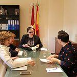 María Diaz ha mantenido un encuentro con miembros de la Comisión Redactora del Estatuto de Informativos del ente público de Radio Televisión Castilla-La Mancha.