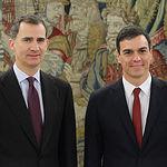 Felipe VI con Pedro Sánchez