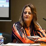 Ana Martínez, presidenta de la Asociación de Periodistas de Albacete, APAB, durante la LXXVIII Asamblea General de la FAPE, realizada en Albacete