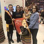 PODEMOS CLM visita el stand de Castilla-La Mancha en la feria internacional del turismo.