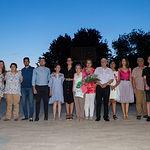 Pregón de Manuel Lozano Serna en las fiestas del barrio Sepulcro-Bolera. Foto de familia.