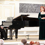 Ana Luisa Espinosa, soprano albaceteña, en una actuación en San Petersburgo.