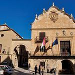 Edificio del ayuntamiento de Chinchilla, una construcción de los siglos XVI y XVIII. En la Plaza Mayor o De La Mancha.