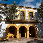 Fachada del edificio de la Jefatura de la Maestranza Aérea de Albacete.