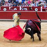 Alfonso Cadaval - Su primer toro - Corrida Feria de Albacete del 13-09-2016