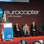 Francisco Pardo, ex-secretario del ministerio de Defensa, en la inauguración de la factoría de Eurocopter en Albacete.
