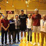 Los hermanos Hernán Gómez, Willy y Juancho, jugadores de la NBA