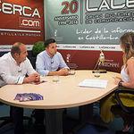 Miguel Zamora, alcalde de Tarazona de la Mancha; Antonio Soler, empresario taurino; y Miriam Martínez, periodista.