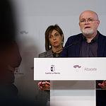 Pedro Antonio Ruiz Santos, delegado provincial de la JCCM en Albacete, durante la presentación del Plan Adelante 2020-2023. Foto: Manuel Lozano García / La Cerca