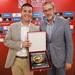 Cabañero y Alberto González partido Sub21
