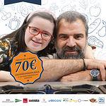 Cartel II Cena Solidaria de ASPRONA y Euro-Toques.