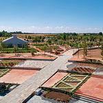 Vista panorámica de una parte del Jardín Botánico de Castilla-La Mancha, todavía en proceso de construcción.