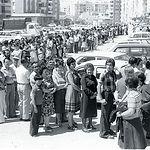 Colas para votar en las Elecciones de 1977