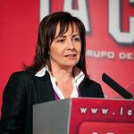 Carmen Oliver, alcaldesa de Albacete, durante su intervención en los Premios Solidarios 2009.
