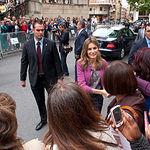 S.A.R. La Princesa de Asturias, Dña. Letizia, durante su visita al Ayuntamiento de Albacete.