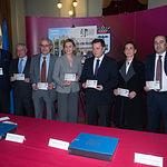 Presentación de la nueva emisión  del sello de Correos de la de la serie 'Efemérides' que conmemora el centenario de la Plaza de Toros de Albacete