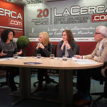 Évelin R. Molano, responsable Departamento Asociaciones de FEDA, Toñi Pastrana, presidente de la Asociación de Mujeres Empresarias de Albacete (AMEPAP), Rosario Jiménez, vicepresidenta de FEDA.