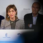 Carmen Juste, secretaria provincial de CCOO en Albacete, durante la presentación del Plan Adelante 2020-2023. Foto: Manuel Lozano García / La Cerca