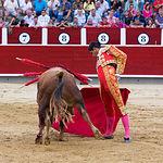 Luis David Adame - Su primer toro - Corrida Feria de Albacete del 13-09-2016