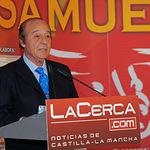 El ganadero Samuel Flores en la Gala de Entrega de los X Premios Taurinos Samueles, pertenecientes a la Feria Taurina de Albacete 2015