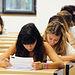 Alumnos examinándose en el Campus de Cuenca.