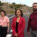 Marta García visita obra CM-4004 en Añover de Tajo. Foto: JCCM.