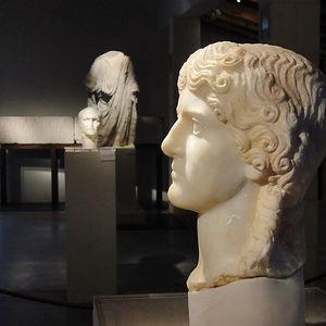 Escultura de Agrippina Maior encontrada en el Parque Arqueológico de Segóbriga.