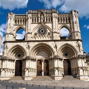 Catedral de Cuenca, considerada como el más temprano ejemplo de estilo gótico en España.