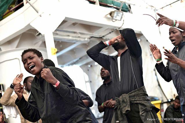 Llegada de migrantes del Aquarius a Valencia - 17-06-18. Foto: Karpov/SOS MEDITERRANEE
