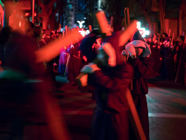Procesión del Silencio en Albacete. Jueves Santo. Semana Santa 2017