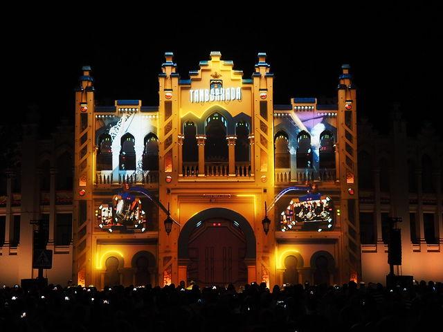 Imagen del Vídeo Mapping en la Plaza de Toros de Albacete - Feria de Albacete 2017.