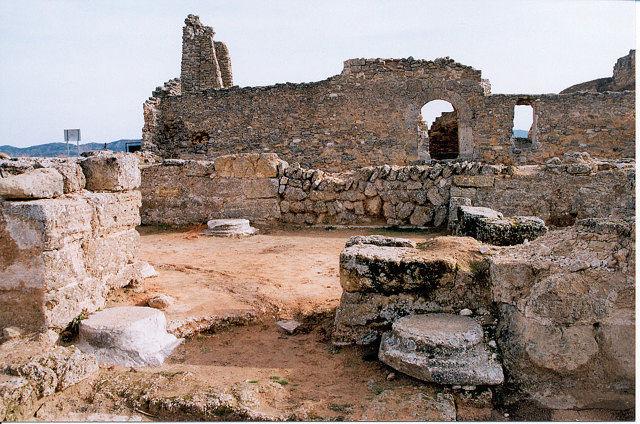 Ruinas de la iglesia visigoda de Recópolis.