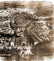 Dibujo del Recinto Ferial del siglo XIX.