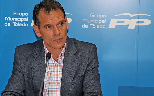 José López Gamarra, viceportavoz del Grupo Municipal Popular en el Ayuntamiento de Toledo. Foto de Archivo.