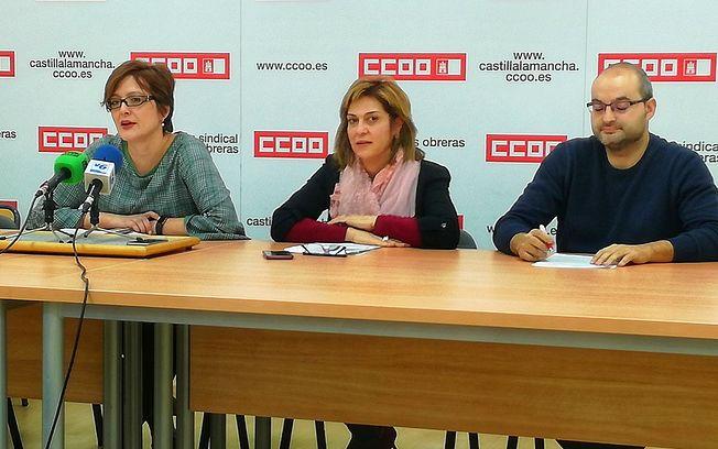Carolina Vidal, Carmen Juste y Juan José Jiménez.