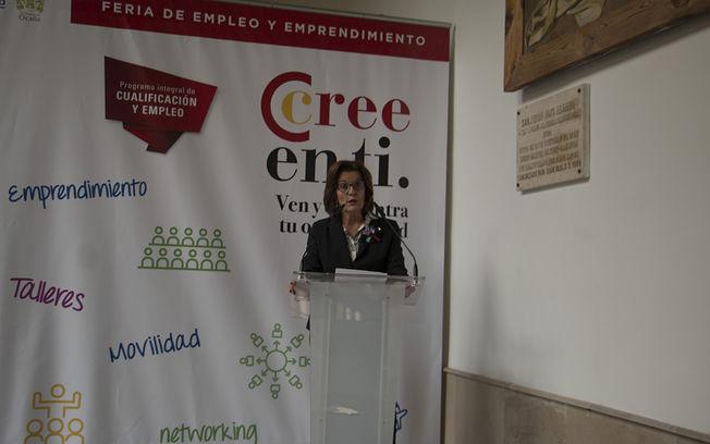 La presidenta de la Cámara de Comercio de Toledo, María de los Ángeles Martínez Hurtado, durante la presentación.