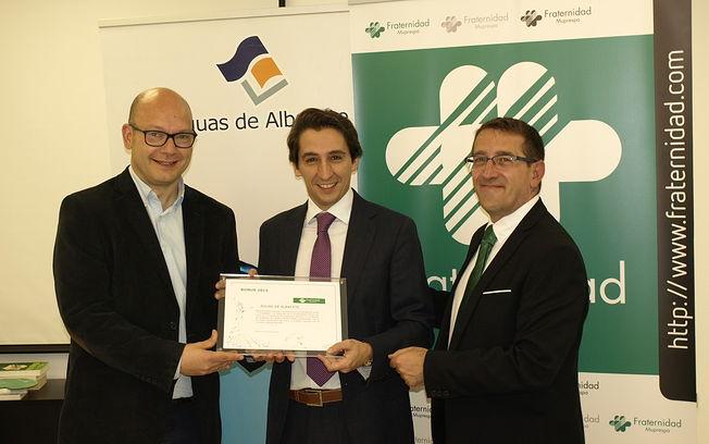 Aguas de Albacete recibe el Reconocimiento de Fraternidad-Muprespa por su reducción de la siniestralidad