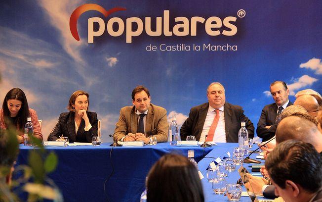 El presidente del PP de Castilla-La Mancha, Paco Núñez, que ha participado en la Comisión Nacional de Discapacidad del PP.