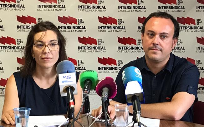 Laura Torres y Pedro Ortega, representantes de STE CLM.