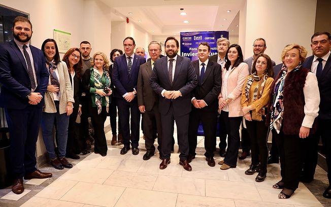 El presidente del Partido Popular de Castilla-La Mancha, Paco Núñez,  en el acto 'Invierte en Cuenca, un valor de futuro', organizado por la CEOE-CEPYME en Madrid.
