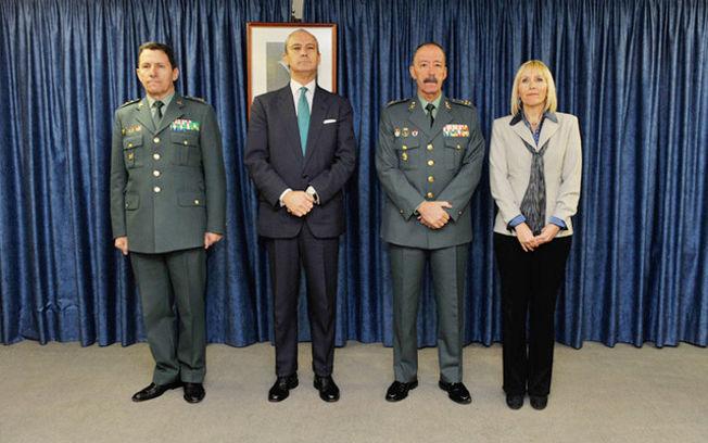 El director general de la guardia civil preside la toma de for Ministerio del interior guardia civil