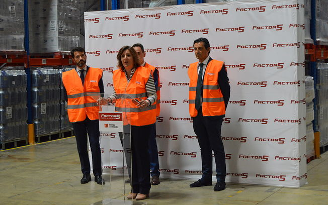 Presentación de la nueva plataforma logística para Solán de Cabras en Cabanillas del Campo.