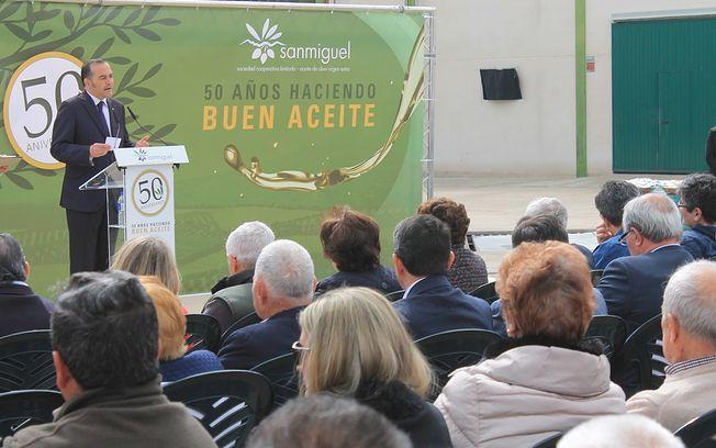 Acto de conmemoración del 50 aniversario de la Cooperativa San Miguel de Navahermosa (Toledo)