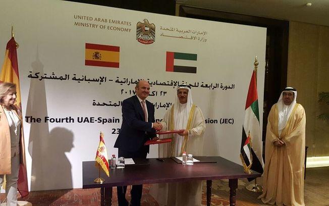 Ministros de Economía de España y Emiratos Árabes