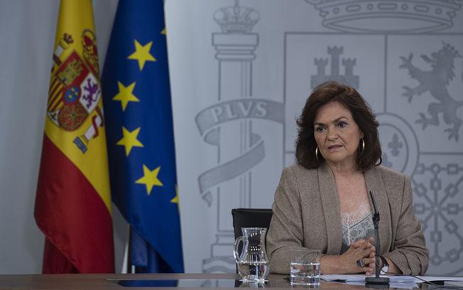 Carmen Calvo, vicepresidenta del Gobierno y ministra de la Presidencia, Relaciones con las Cortes e Igualdad.