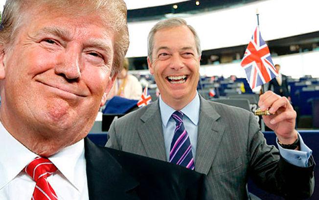 Donald Trump y Nigel Farage