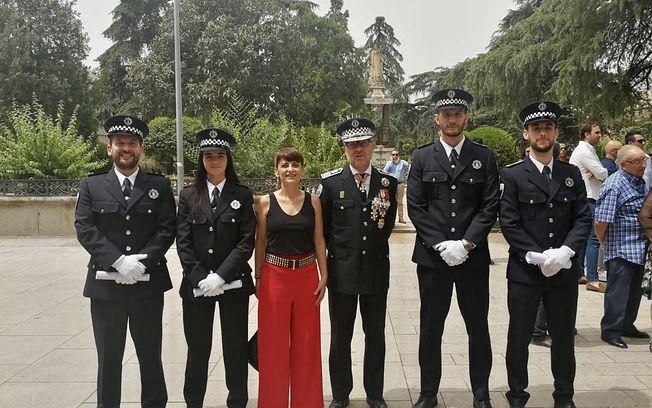Cuatro agentes de la Policía Local de Albacete se gradúan en la Escuela de Protección Ciudadana de Castilla-La Mancha.