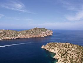 Vista del archipiélago de Cabrera, en las Islas Baleares.